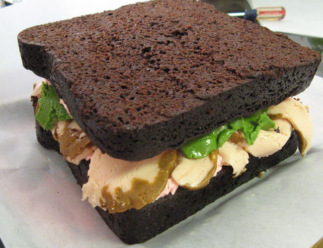 Turkey Sandwich Cake